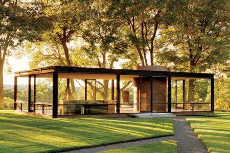 Casa de cristal, diseñada por Phillip Jhonson
